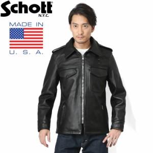 Schott ショット 602US レザーポリスマンジャケット 7167 BLACK