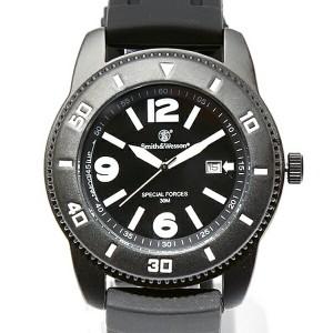 【クーポン対象外】 Smith & Wesson スミス&ウェッソン PARATROOPER WATCH 腕時計 BLACK SWW-5983