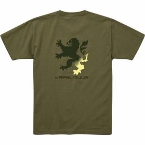 カペルミュール ヘビーウエイトTシャツ ビッグライオン ライトオリーブ