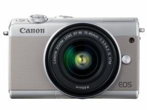 CANON デジタル一眼カメラ EOS M100 ダブルズームキット [グレー]