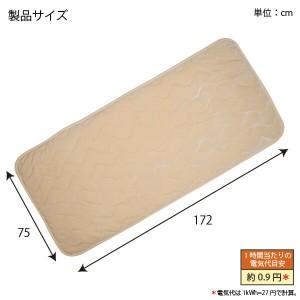 ホットマット YGM-50V(BE) ベージュ ホットカーペット 1畳/1人用 ぽかぽかルームマット ごろ寝マットにおすすめ ユアサ/YUASA