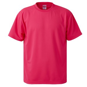 UVカット・吸汗速乾・5枚セット・4.1オンスさらさらドライ Tシャツ蛍光ピンク XXXXL
