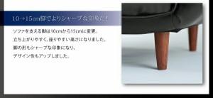 送料無料 リクライニングカウチソファ レザータイプ エスタ レザータイプ (2人掛け 座面幅 2P)(カラー ブラック) 黒