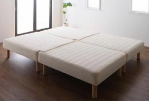 送料無料 単品 日本製ポケットコイルマットレスベッド 用 ワイドK200