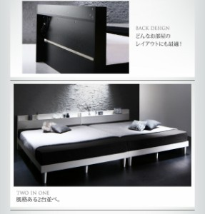 送料無料 棚・コンセント付きデザインすのこベッド デュラテクノマットレス付き ホワイト セミダブルベッド 中型 ゆったり 1人 白