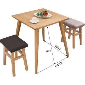 【送料無料!ポイント2%】バンビ テーブル 北欧風のお洒落なダイニングテーブルです♪