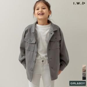 [I.W.U(アイダブリュー)ユニセックス/親子ペア/キッズ][サステナブル]あったか表起毛キッズリサイクルジャージーCPOジャケット
