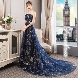 fd2c3fb28d3cf セール 大きいサイズ ドレス ☆デコルテラインを綺麗に魅せる!ゴージャスロングトレーンキラキラ