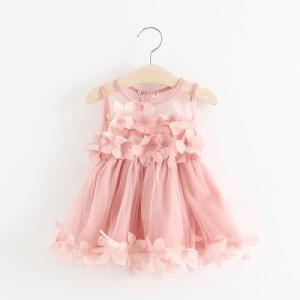 2c5254be9c21c ドレス ワンピース フォーマル ノースリーブ 花びら かわいい 上品 おしゃれ 女の子 女児 キッズ ベビー 幼児 結婚