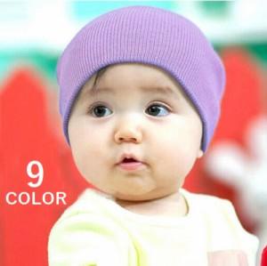 b8792c38c7db7 子供用 赤ちゃん用 ニット帽 ニットキャップ ビーニー コットン シンプル 無地 ベビー キッズ 女の子 男