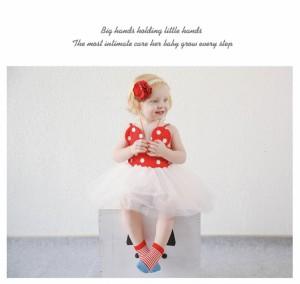 【ゲリラSALE】子供用 靴下 クルーソックス くるぶしソックス 滑り止め付き 短い 短め ボーダー 花柄 フラワー 可愛い