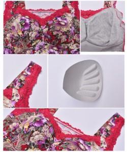 6992903040c0f2 【ゲリラSALE】カップ付きキャミソール レディース インナー 女性下着 カップ付きタンクトップブラ ブラトップ 花柄 フラワー