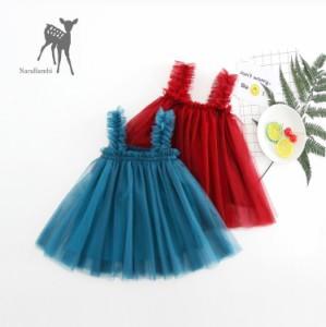 f2175bd546c86 子ども用 チュールワンピース ドレス キッズ 子ども服 ベビー 女の子 ガールズ ノースリーブ キャミソール