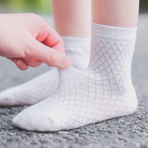 9caf6826c4dde 靴下 ソックス ベビー キッズ 女の子 5足セット 5足組 クルーソックス メッシュ 通気性