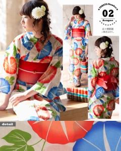 02青×橙朝顔+帯赤