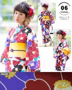 06黒×紫×エンジ椿+帯黄