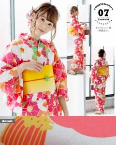 07赤×オレンジ椿+帯黄