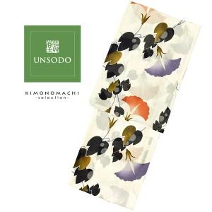 UNSODO ブランド浴衣単品 「白地に横朝顔(9U-3)桂友同机会」 日本製 浴衣 レディース Fサイズ 女性浴衣