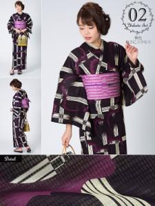 02紫色格子にコウモリ
