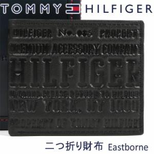dc5ed6c79058 トミーヒルフィガー 二つ折り財布 TOMMY HILFIGER 財布 ブラック 31TL25X022 BLACK