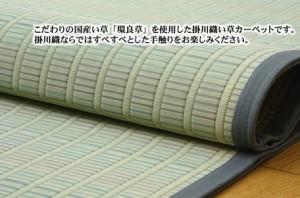 【純国産 掛川織 い草カーペット 『剣閣 環良草』174×261cm】