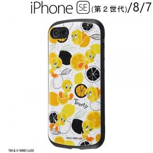 ルーニー・テューンズ iPhone SE(第2世代)/8/7 専用 耐衝撃ケース MiA/トゥイーティー/総柄 IN-WP24AC4/TWB1 (メール便送料無料)