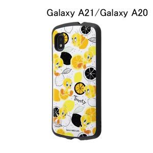 ルーニー・テューンズ Galaxy A21/Galaxy A20/耐衝撃ケース MiA / トゥイーティー 総柄 IN-WGA21AC4-TWB1 (メール便送料無料)