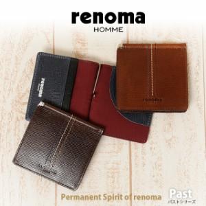 【送料無料】 renoma HOMME [レノマオム] 札バサミ/財布 Past 511614  【メンズ】【革】