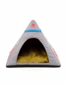 【メーカー取寄】【COO】 COOCO-PETS 公式コラボ エヴァンゲリオン ペット ネルフ 本部型 ペットハウス (グレー)