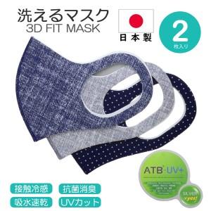 3Dフィットマスク 洗える 日本製 フリーサイズ(小さめ)同じカラー2枚入り