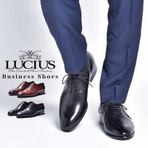ビジネスシューズ メンズ 本革 革靴 カジュアル カジュアルシューズ ビジネス ホールカット ワンピース おしゃれ 内羽根 ブランド LUCIUS
