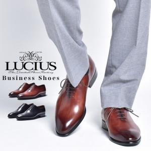 革靴 メンズ 本革 カジュアル カジュアルシューズ ビジネスシューズ ビジネス ホールカット ワンピース おしゃれ 内羽根 ブランド LUCIUS
