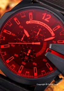 ディーゼル DIESEL 腕時計 メンズ Mega Chief Chronograph レッド×ブラック DZ4460