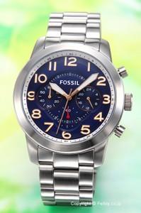 フォッシル FOSSIL 腕時計 メンズ パイロット 54 ネイビー FS5203
