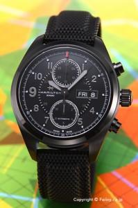 ハミルトン HAMILTON 腕時計 メンズ  カーキ フィールド オートクロノ オールブラック H71626735