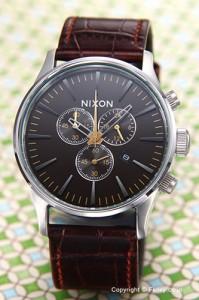 NIXON ニクソン メンズ腕時計 A4051887 (A405-1887) セントリー クロノ レザー ブラウン ゲーター