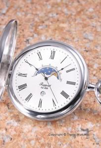 【RAPPORT】 ラポート 懐中時計(ポケットウォッチ) ムーンフェイズ ホワイト PW81