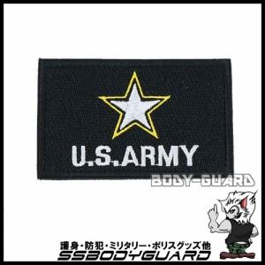 U.S. ARMY 角ワッペン 8×5 ブラック