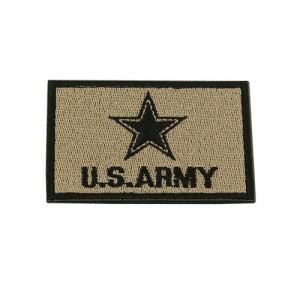 U.S. ARMY 角ワッペン 8×5 ブラウン