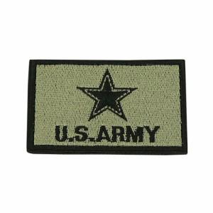 U.S. ARMY 角ワッペン 8×5 グレー