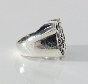 ホースシューリング(4)CZ15号〜25号/【メイン】シルバー925銀馬蹄蹄鉄指輪
