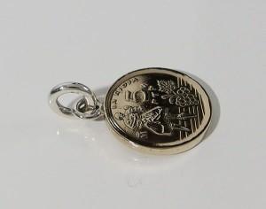 本物のスペインのコインペンダント(3)(メイン)シルバー925製/銀/硬貨送料無料