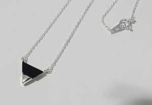 ネックレス・トライアングル(1)オニキス(メイン)シルバー925製/銀/オニキス天然石パワーストーンレディース送料無料