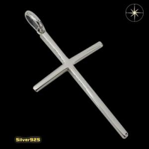 シンプルクロス(17)/(メイン)・シルバー925銀・ペンダント・十字架・クロス・ネックレス送料無料