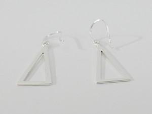 フックピアス(13)トライアングル2個セット/(メイン)・両耳売り・シルバー925銀・ピアス・イヤリング・送料無料