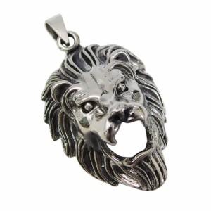 ライオンのペンダント(1)(メイン)シルバー925 銀 ペンダント ネックレス メンズ レディース 送料無料 ライオン 動物