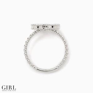メール便送料無料 リング クローバーモチーフ ラインストーン 結婚式 指輪 レディース 女性用 アクセサリー アクセ 結婚式
