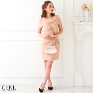 パーティードレス 結婚式 二次会 ワンピース ドレス 袖あり 大きいサイズ 体型カバー お呼ばれ 披露宴 レディース モデル美香着用
