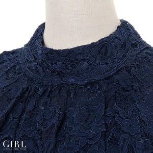パーティードレス 結婚式 二次会 ワンピース ドレス 袖あり 大きいサイズ 体型カバー お呼ばれ 披露宴 レディース レース モデル美香着用