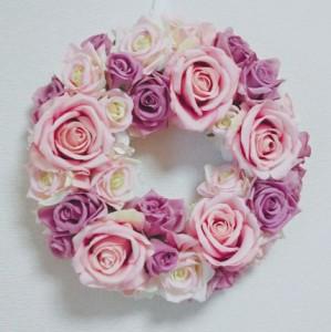 アーティフィシャルフラワー リース 最高品質めいっぱいのボリューム感 ピンク/造花/母の日/フラワー/お祝い